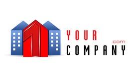 Vector logo template, construction, realt, realtor, rent Royalty Free Stock Photos