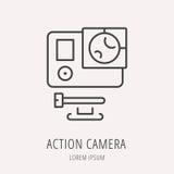 Vector Logo Template Action Camera simple Imagenes de archivo
