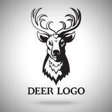 Vector logo template with black deer head. For labels, sport teams, badges etc. Vector logo template with black deer head. For labels, sport teams, badges etc stock illustration