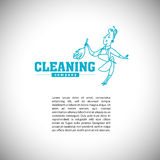 Vector logo template for cleaning company Royalty Free Stock Image