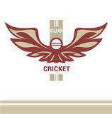 Vector logo template cricket club. Stock Photos