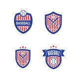 Vector Logo Template del béisbol Imágenes de archivo libres de regalías