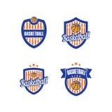 Vector Logo Template del baloncesto Imagen de archivo