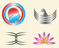 Vector logo Template. Here 4  logo template best of use your business and identity Stock Images