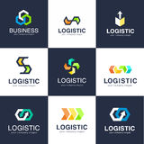 Vector logo template for logistics and delivery company. Business logo Stock Photos