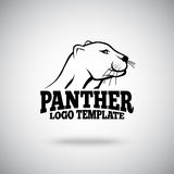 Vector logo template with Panther, for sport teams, brands etc Royalty Free Stock Photos