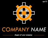 Vector logo template, ready logotype for a company or a brand Stock Image
