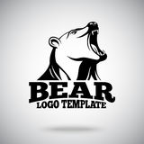 Vector logo template with Roaring Bear for sport teams, brands etc.  Stock Images