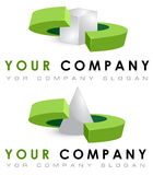 Vector logo template set, geometric shapes Royalty Free Stock Images