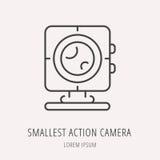 Vector Logo Template Smallest Action Camera simple Foto de archivo libre de regalías