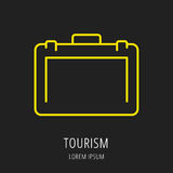 Vector Logo Template Tourism simple Foto de archivo libre de regalías