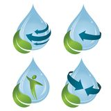 Leaf and drop of water, to symbolize the nature and the ecology. Vector logo templates and elements related to ecology, environment, nature Stock Photo