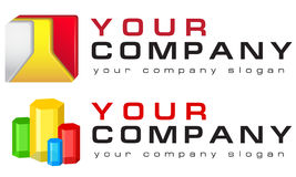 Vector logo templates industries and technology Stock Photos
