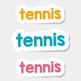 Vector logo Tennis on a light background. Vector logos and lettering on a light sports isolated background. Tennis - Stock Vector Stock Image