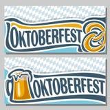 Vector logo ticket for oktoberfest Stock Images