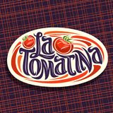 Vector logo for Tomatina festival Royalty Free Stock Images