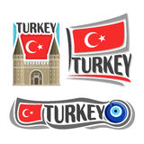 Vector logo for Turkey Royalty Free Stock Photos