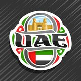 Vector logo for UAE country royalty free illustration