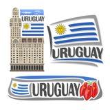 Vector logo Uruguay Royalty Free Stock Photos