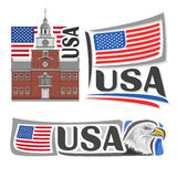 Vector logo USA Royalty Free Stock Images