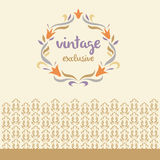Vector logo. Vintage, exclusive. Vignette of lily Stock Images