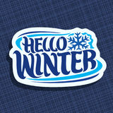 Vector logo for Winter season Royalty Free Stock Images