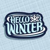 Vector logo for Winter season Stock Photos