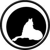 The Vector logo wolf for shirt design Royalty Free Stock Photo