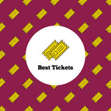 Vector logo. Yellow theater or cinema tickets Stock Images