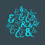 Vector Logograms Collection Royalty Free Stock Images