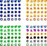 Vector logos. Set of 144  logo symbols Royalty Free Stock Photo