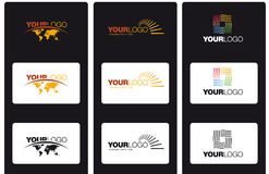 Vector logos. Template of modern logo and icons Stock Images