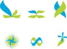 Vector logos. Several logos you can use as a company logo on white Stock Photography