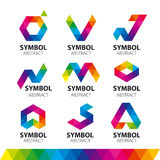 Vector logos from abstract modules Stock Image
