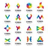 Vector logos abstract modules Royalty Free Stock Photography