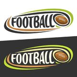 Vector logos for American Football sport Royalty Free Stock Photography