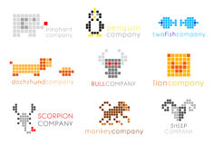 Vector logos with animals Stock Images