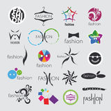 Vector logos for clothing and fashion accessories Stock Photos