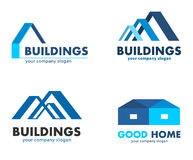 Vector logos for construction and building companies Stock Photography