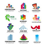 Vector logos construction and home improvement. Collection of vector logos construction and home improvement Stock Photo