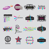 Vector logos fashion accessories Royalty Free Stock Photo