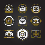 Vector logos or icons for photographers Royalty Free Stock Photos