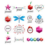 Vector logos jewelry and fashion accessories Stock Photography