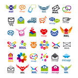 Vector logos mail messages Stock Photo