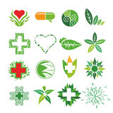 Vector logos of Medicine and Pharmacy Royalty Free Stock Photography