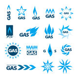 Vector logos of natural gas. Collection of vector logos of natural gas Stock Photography