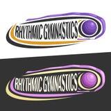 Vector logos for Rhythmic Gymnastics Royalty Free Stock Photography
