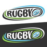 Vector logos for Rugby sport Stock Image