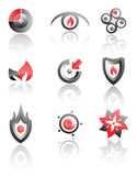 Vector logos set of symbols Royalty Free Stock Image