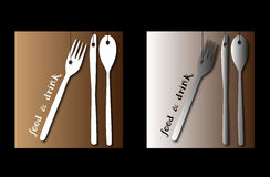 Logos for catering. Vector logos suitable for catering stock illustration